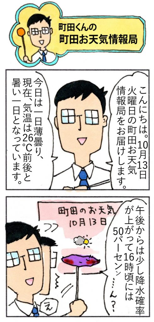 町田のお天気20201013